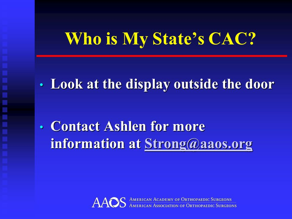 Who is My States CAC.
