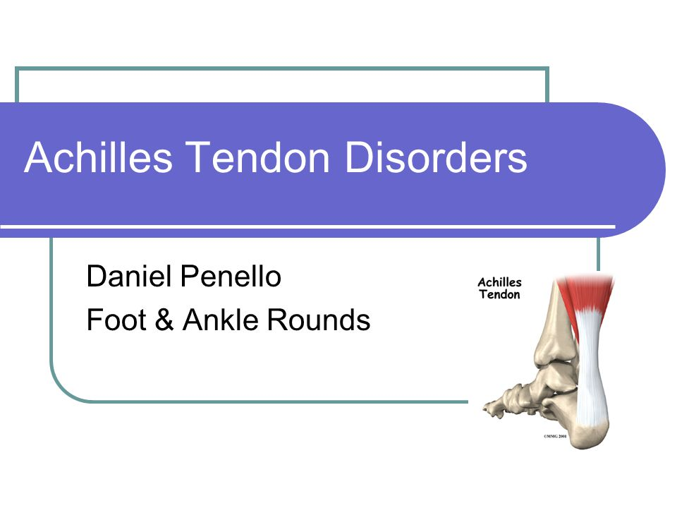 Achilles Tendon Disorders Daniel Penello Foot & Ankle Rounds