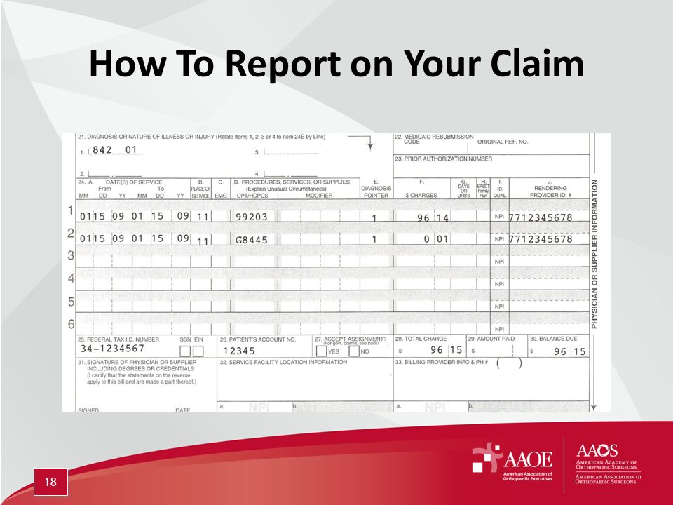 How To Report on Your Claim