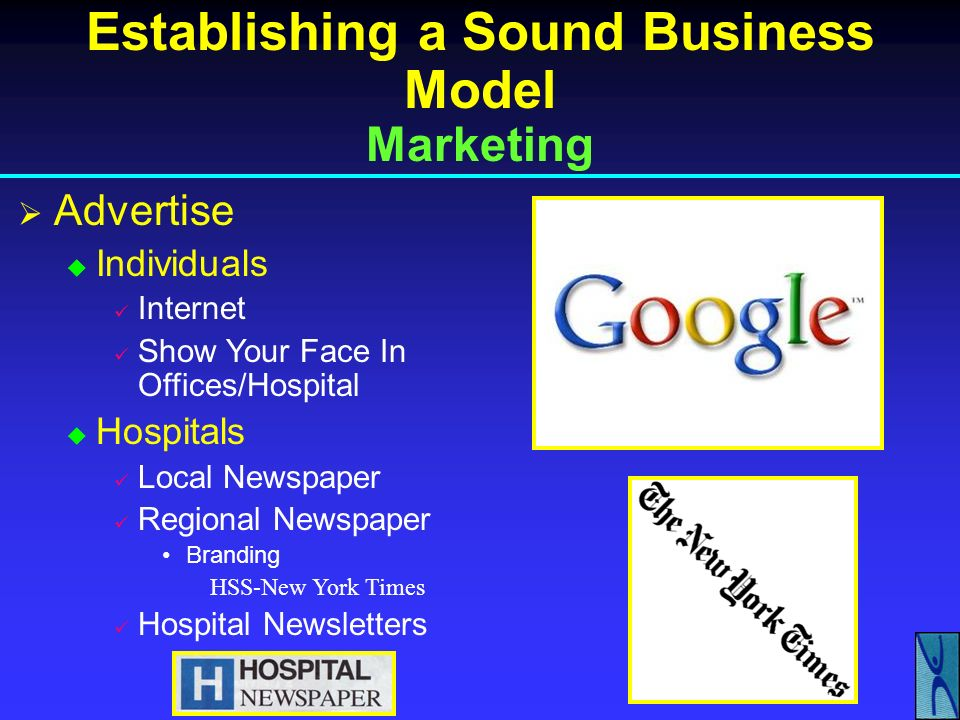 Establishing a Sound Business Model Marketing-Private Practice Your Relationship With Your Patients IS Your Business – Pay Attention to Them Announce