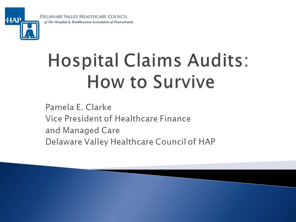 General Overview of Hospital Audits Recovery Audit Contractors (RACs) Medicare Administrative Contractors (MACs) Medicare Prepayment Audits: Hip and Joint Replacements Lessons Learned from MAC Audits Suggested Audit Strategies Future Considerations 2
