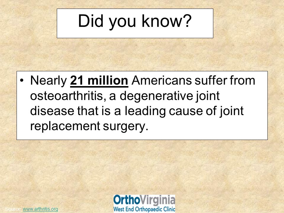 Most Common Types of Arthritis – Osteoarthritis – Rheumatoid Arthritis – Post-traumatic Arthritis – Avascular Necrosis
