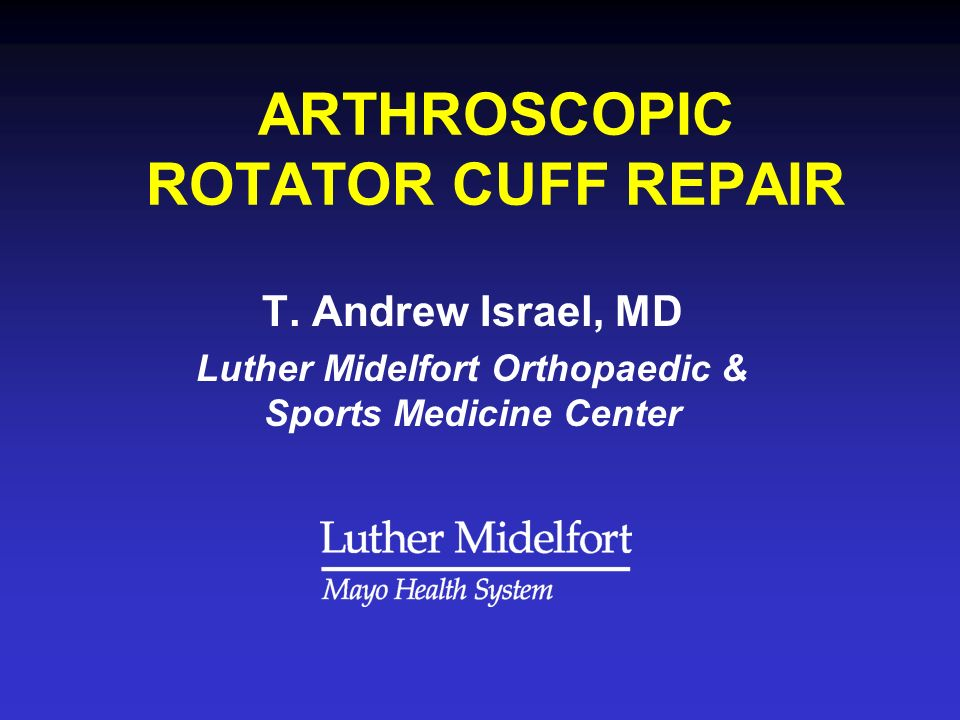 OPERATIVE MANAGEMENT OF ROTATOR CUFF TEARS Treatment Options Treatment Principles Surgical Indications Advantages of ARCR Disadvantages of ARCR Technique for ARCR Results
