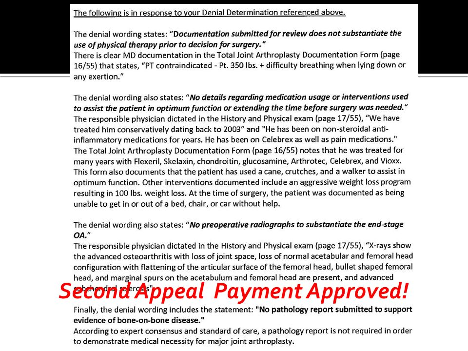 Second Appeal Payment Approved!