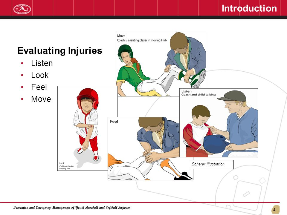 4 Evaluating Injuries Listen Look Feel Move Scherer Illustration