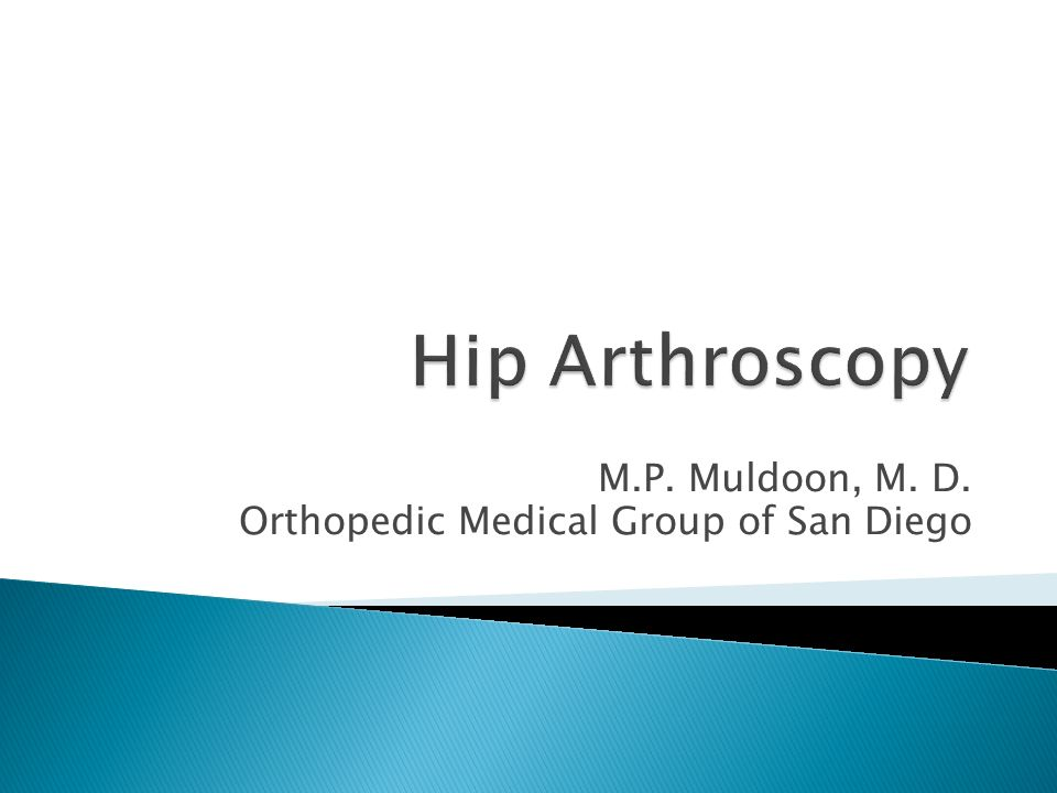 M.P. Muldoon, M. D. Orthopedic Medical Group of San Diego
