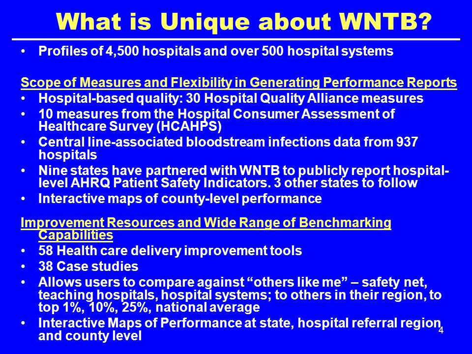 5 Impact of WNTB, 2008-2010 Launched at the Institute for Healthcare Improvement Annual Conference, 12/2008.