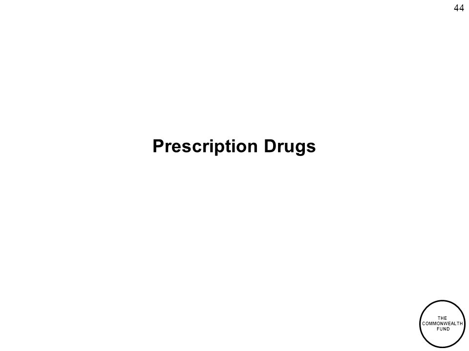 THE COMMONWEALTH FUND 44 Prescription Drugs