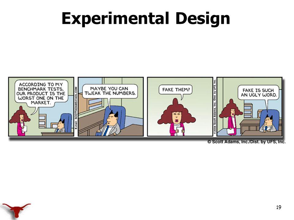 19 Experimental Design