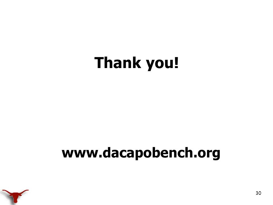 30 Thank you! www.dacapobench.org