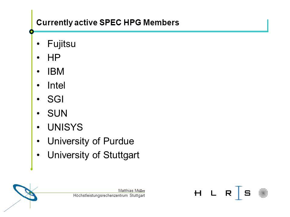 Höchstleistungsrechenzentrum Stuttgart Matthias M üller Where is SPEC Relative to Other Benchmarks .