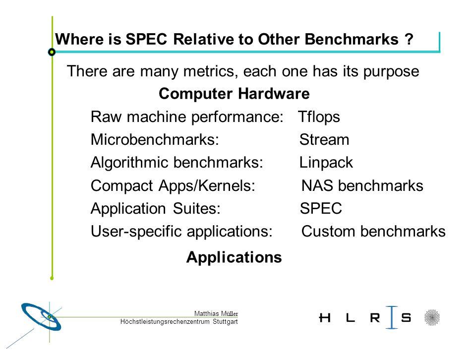 Höchstleistungsrechenzentrum Stuttgart Matthias M üller Why do we need benchmarks.
