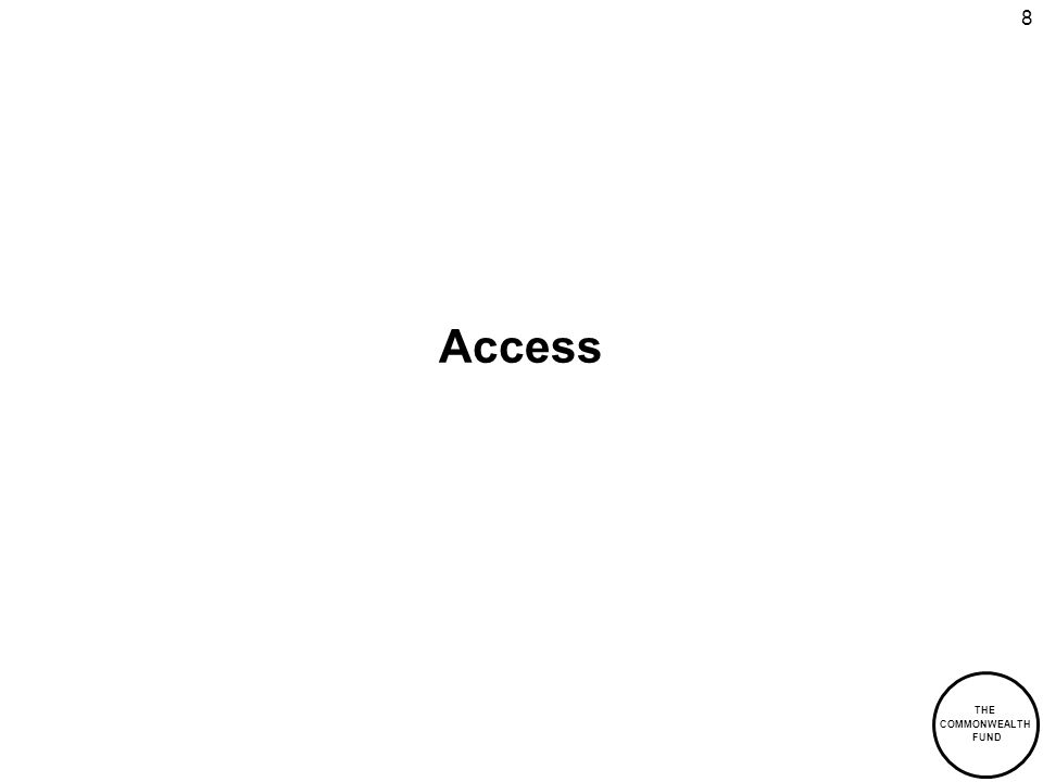 THE COMMONWEALTH FUND 8 Access