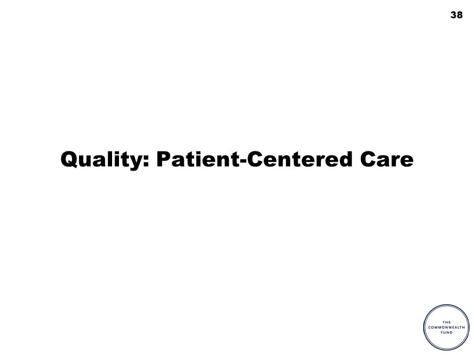 38 Quality: Patient-Centered Care
