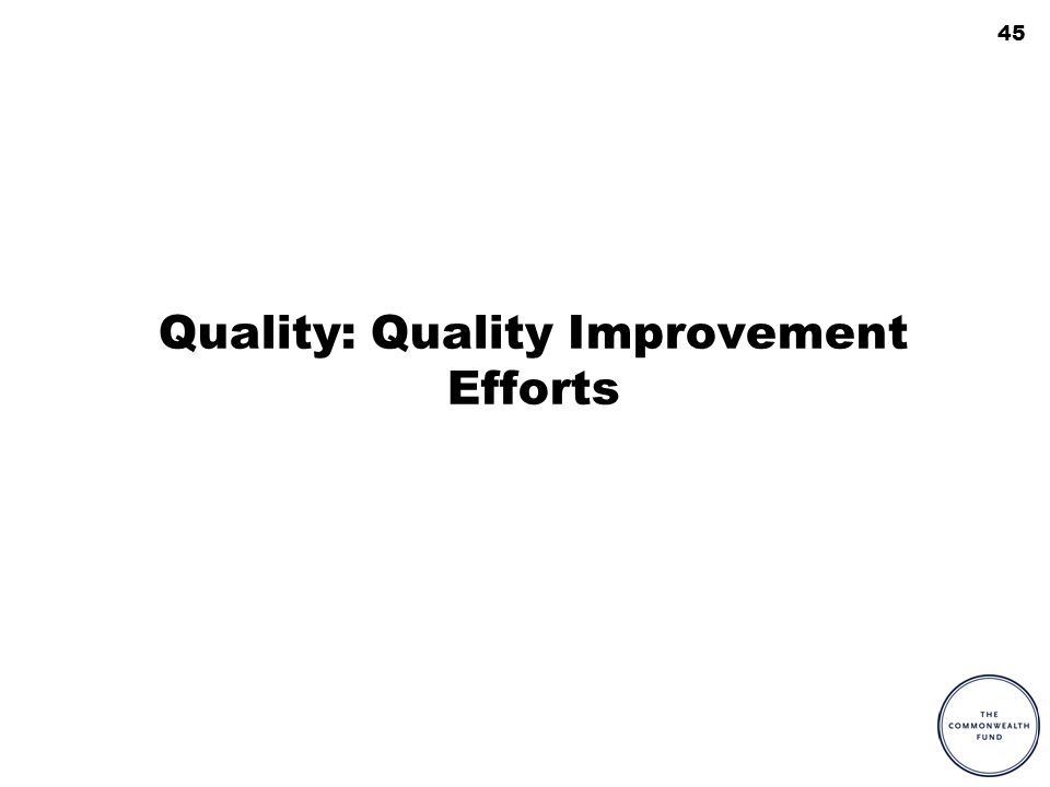 45 Quality: Quality Improvement Efforts