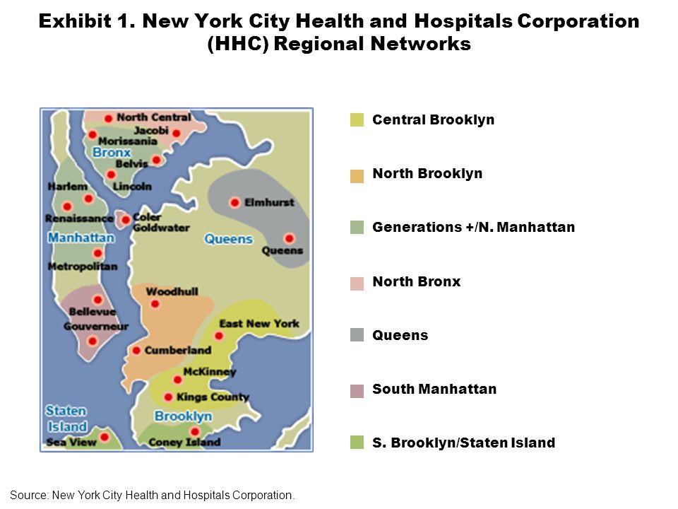 Exhibit 1. New York City Health and Hospitals Corporation (HHC) Regional Networks Central Brooklyn North Brooklyn Generations +/N. Manhattan North Bro
