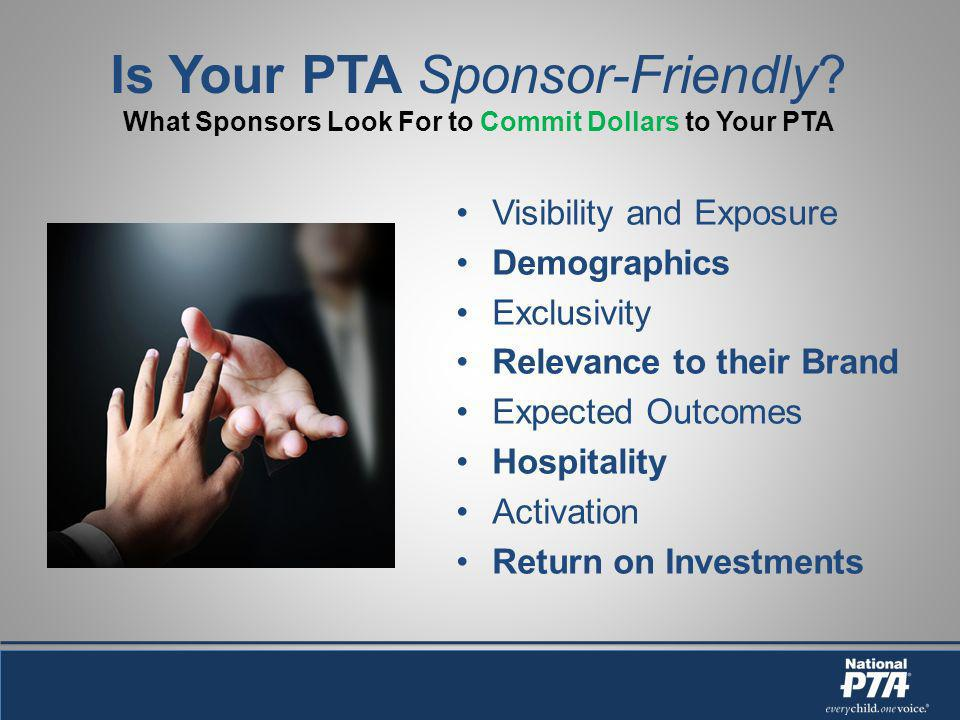 Is Your PTA Sponsor-Friendly.