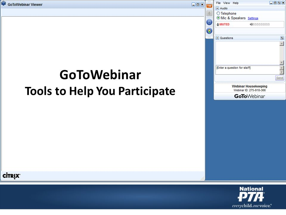 GoToWebinar Tools to Help You Participate