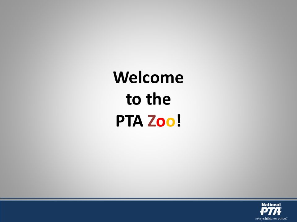 Welcome to the PTA Zoo!