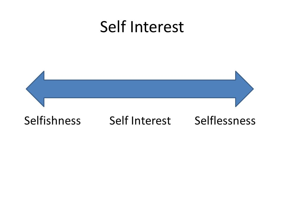 Self Interest SelfishnessSelf InterestSelflessness