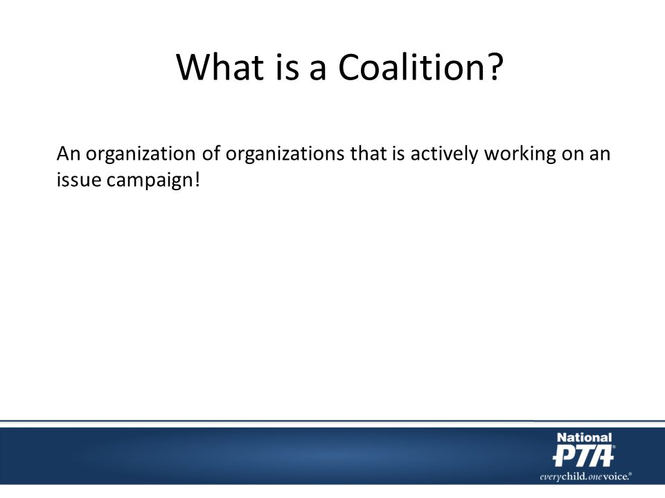 What is a Coalition.