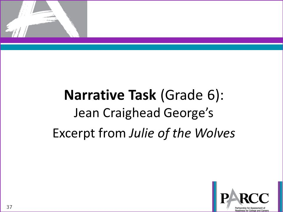 Narrative Task (Grade 6): Jean Craighead Georges Excerpt from Julie of the Wolves 37