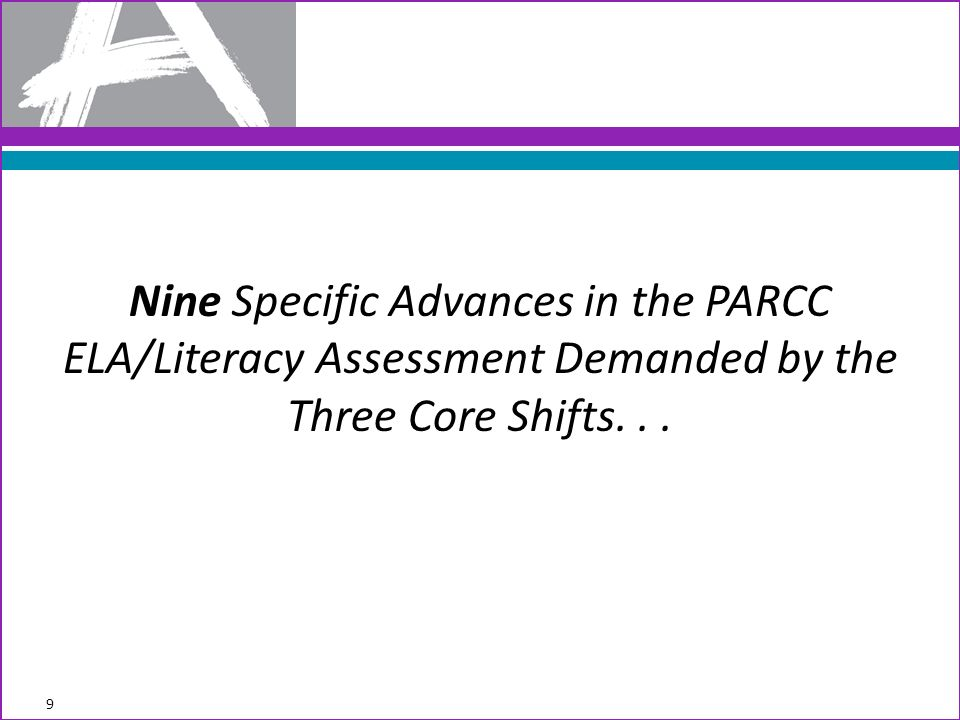 Nine Specific Advances in the PARCC ELA/Literacy Assessment Demanded by the Three Core Shifts... 9