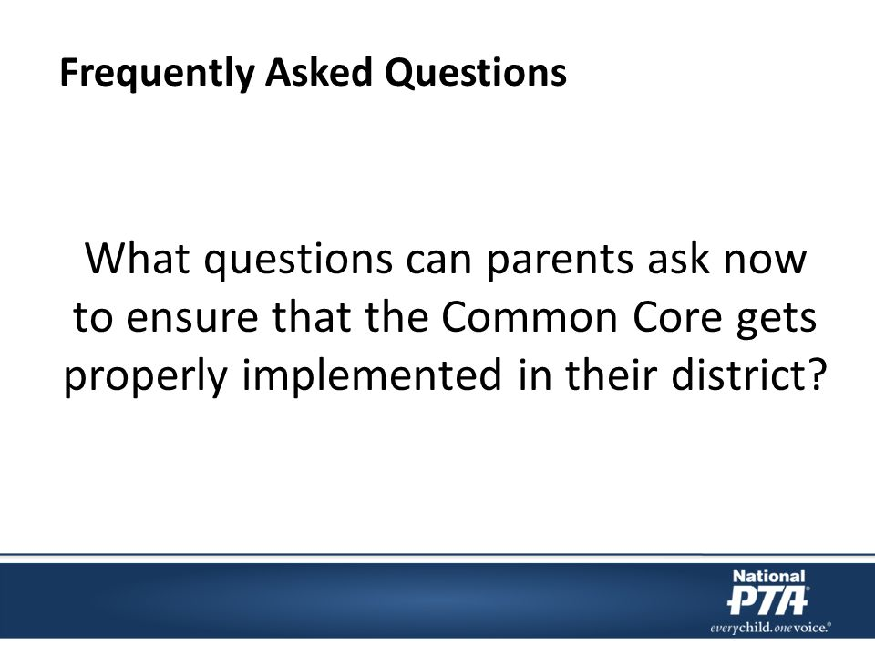 What questions can parents ask now to ensure that the Common Core gets properly implemented in their district.