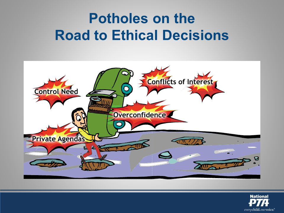 Potholes on the Road to Ethical Decisions