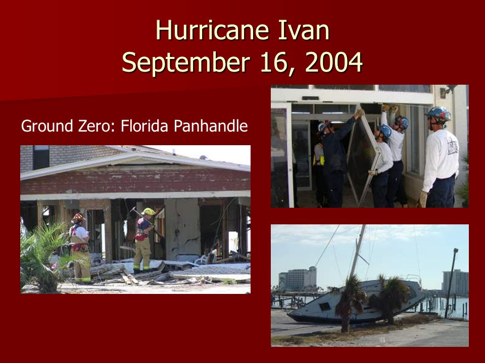 Hurricane Ivan September 16, 2004 Ground Zero: Florida Panhandle