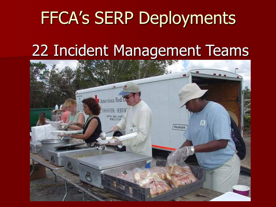 FFCAs SERP Deployments 22 Incident Management Teams