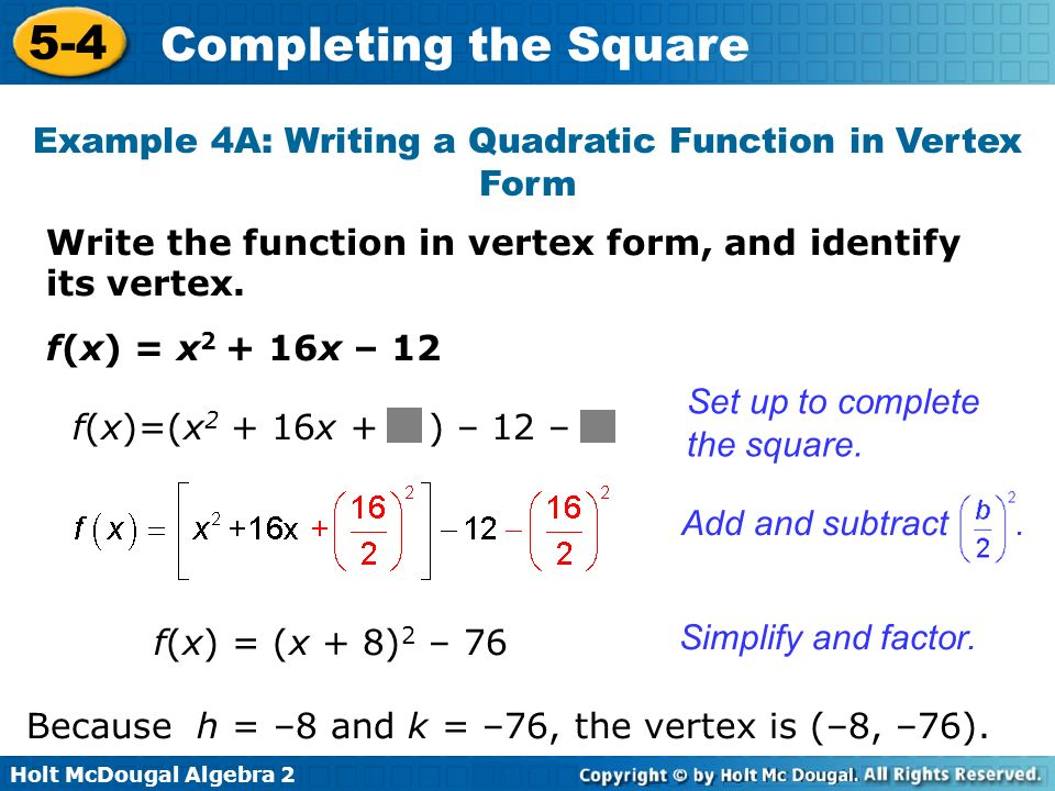 Related Keywords Suggestions For Quadratic Function In Vertex Form