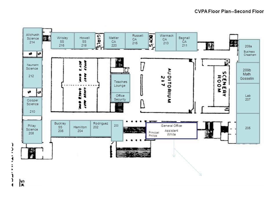 209B 209A CVPA Floor Plan--Second Floor 209b Math Gosselin 209a 200 Rodriguez 202Hamilton 204 Buckley SS 206 Pillay Science 208 Cooper Science 210 Neu