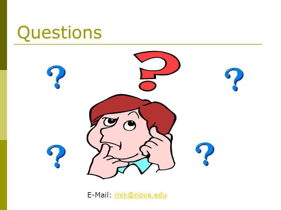 Questions E-Mail: risk@nova.edurisk@nova.edu