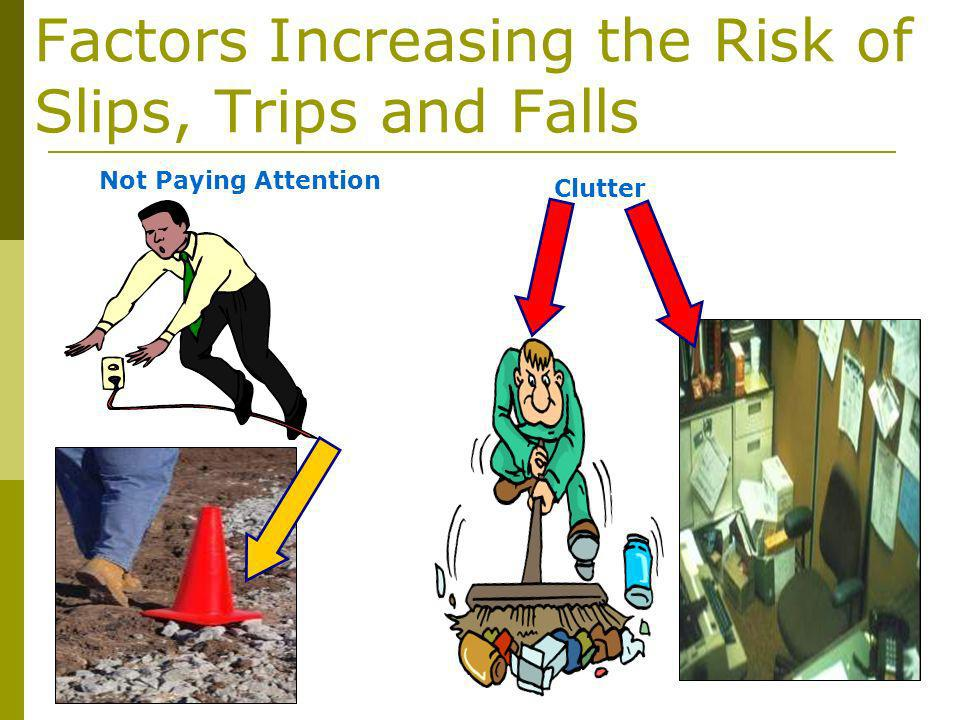 Factors Increasing the Risk of Slips, Trips and Falls Clutter Not Paying Attention