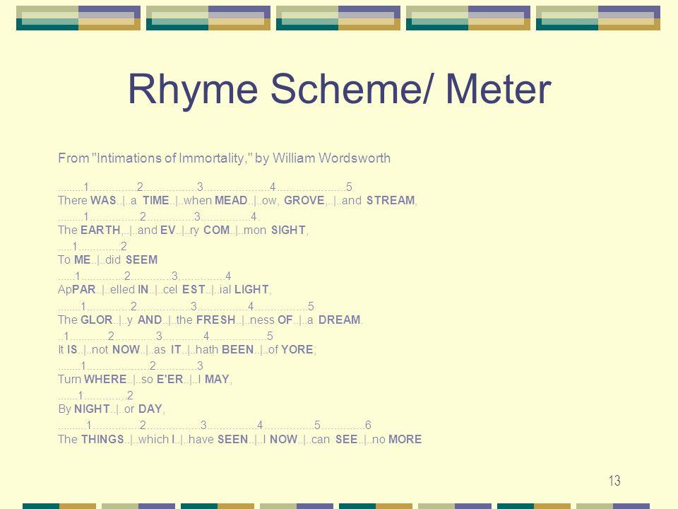 "Presentation ""1 Rhyme Scheme, Rhythm, and Meter Relax, your ears ..."