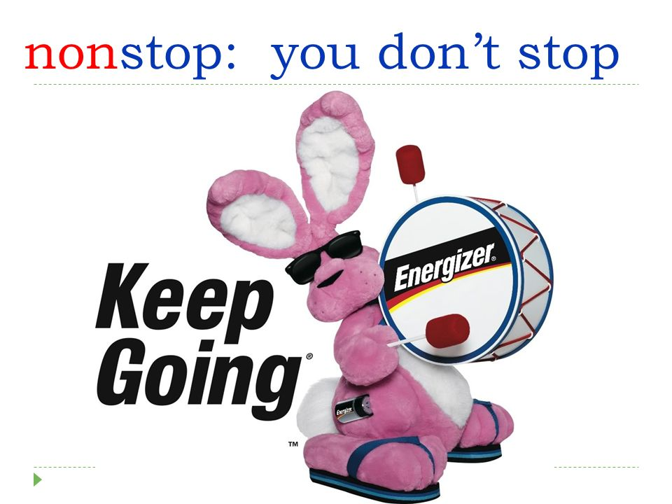 nonstop: you dont stop