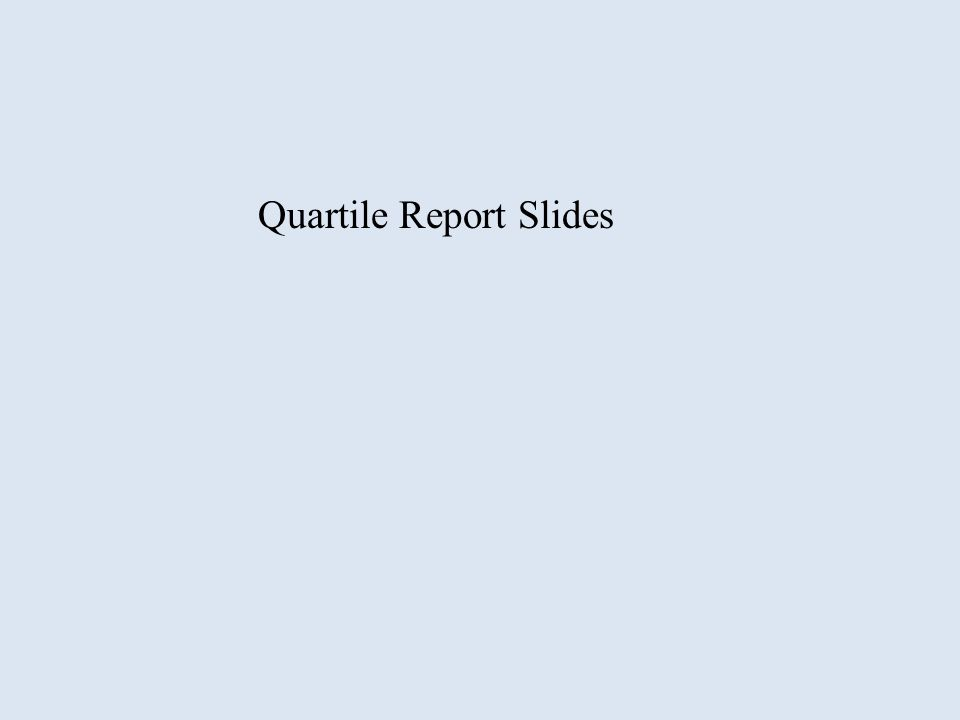 Quartile Report Slides