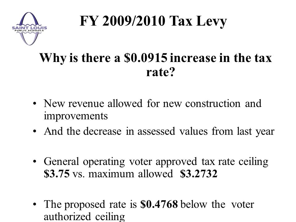 Why is there a $ increase in the tax rate.