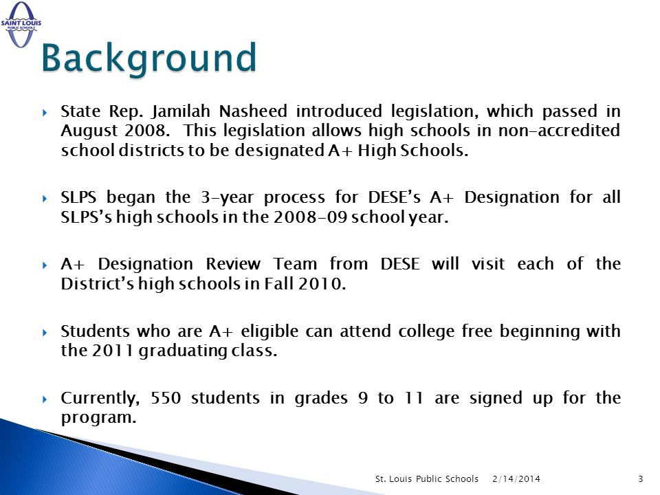 State Rep. Jamilah Nasheed introduced legislation, which passed in August 2008.