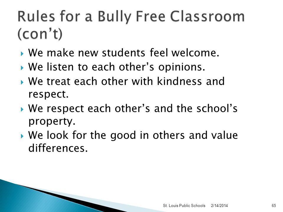 Bullying is not allowed in our classroom or the school. We dont tease, call names, or put people down. We dont hit, shove, kick, or punch. If we see s