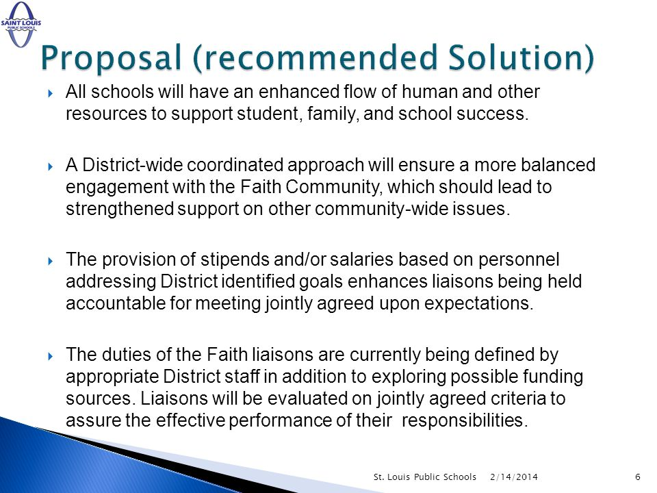 All schools will have an enhanced flow of human and other resources to support student, family, and school success. A District-wide coordinated approa