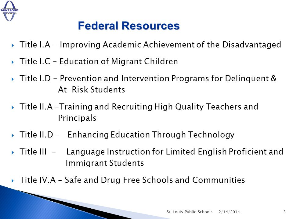 All activities using Federal funds must be aligned with the Accountability Plan Office of School Improvement ensures: compliance with federal guidelines and ensures alignment of academic activities for efficacious use of funds 2/14/2014St.