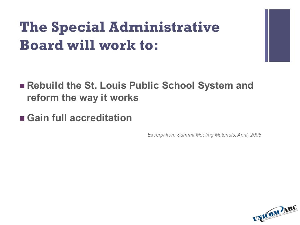 5 Key Function Areas Toward School Improvement… Improve Student Performance Guarantee A Highly Qualified Staff Provide Facilities, Support And Instructional Resources Expect Active Parent And Community Involvement Strengthen Governance