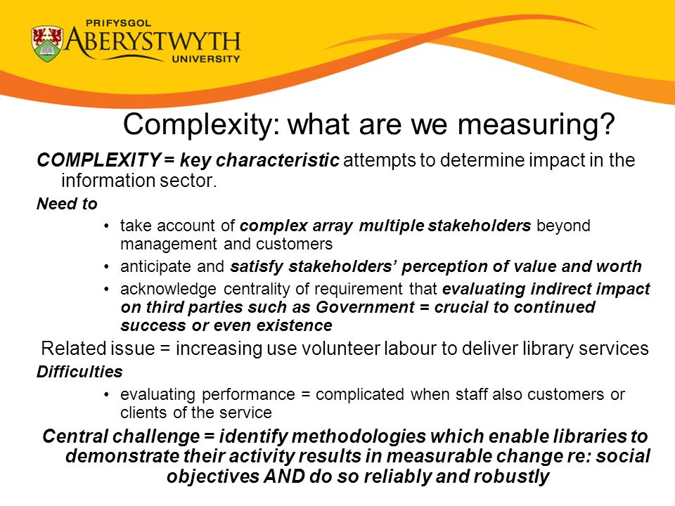 Complexity: what are we measuring.