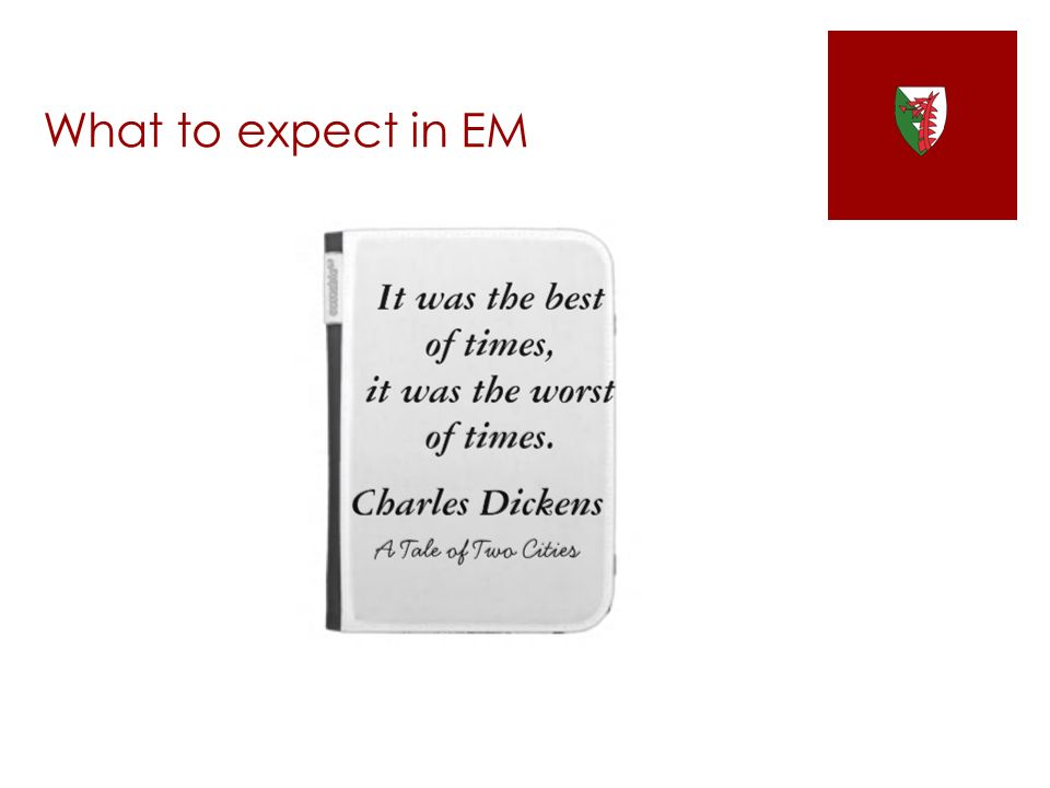 What to expect in EM