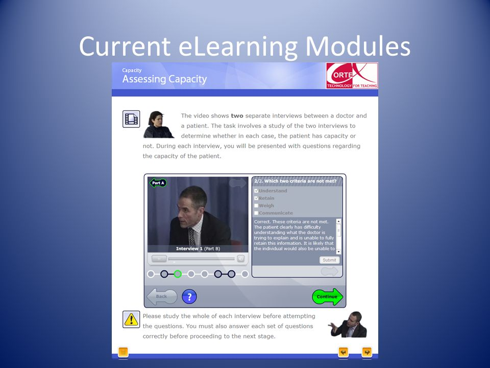 Current eLearning Modules