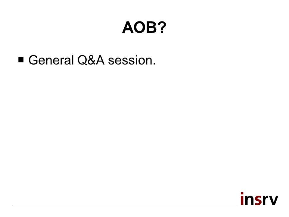 AOB? General Q&A session.