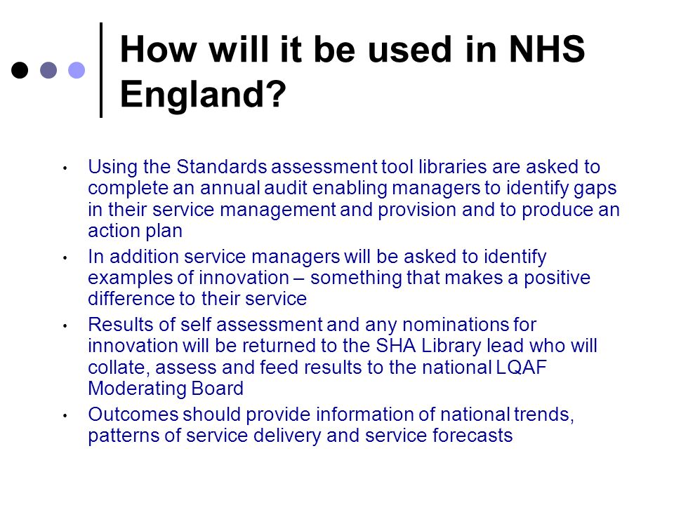 How will it be used in NHS England.