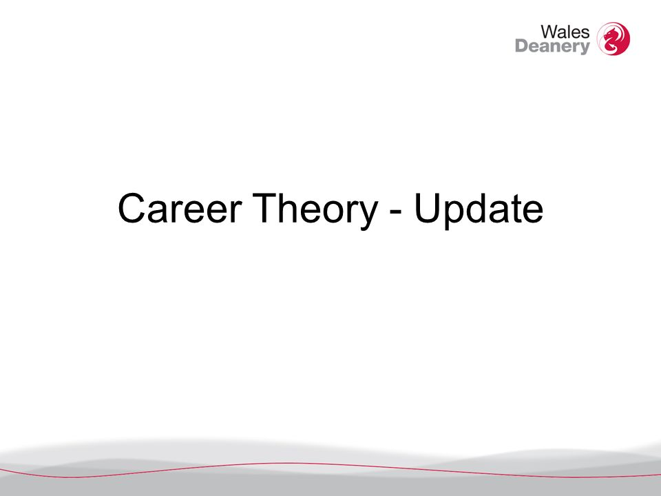 Theories of career decision making Person-Environment Fit Theories e.g.